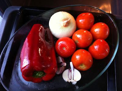 La verduras cubiertas de AOVE